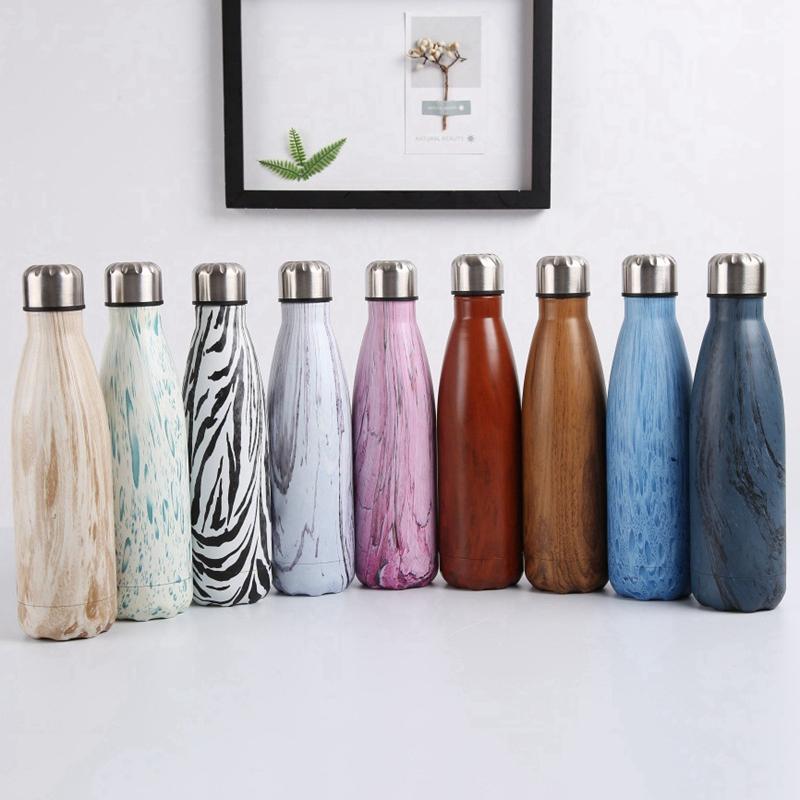 Double-Walled-Vide-Bouteille-Isotherme-en-Acier-Inoxydable-Flask-Fuite-D-039-Ea-K7J2 miniature 36