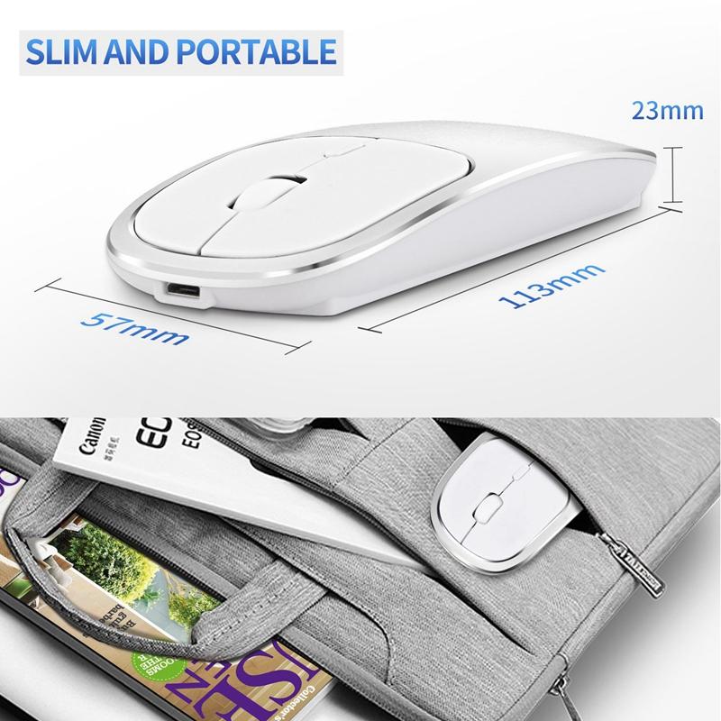 2X-Metall-Bluetooth-und-2-4-G-Wireless-Mouse-Alloy-Ultra-Thin-Recharge-Trag-S7K5 Indexbild 7
