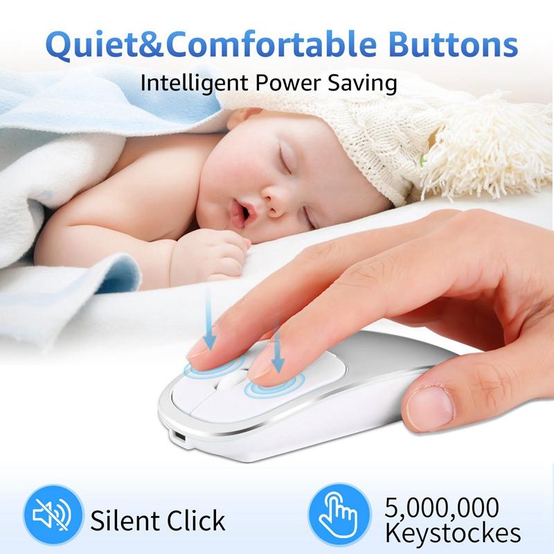 2X-Metall-Bluetooth-und-2-4-G-Wireless-Mouse-Alloy-Ultra-Thin-Recharge-Trag-S7K5 Indexbild 9