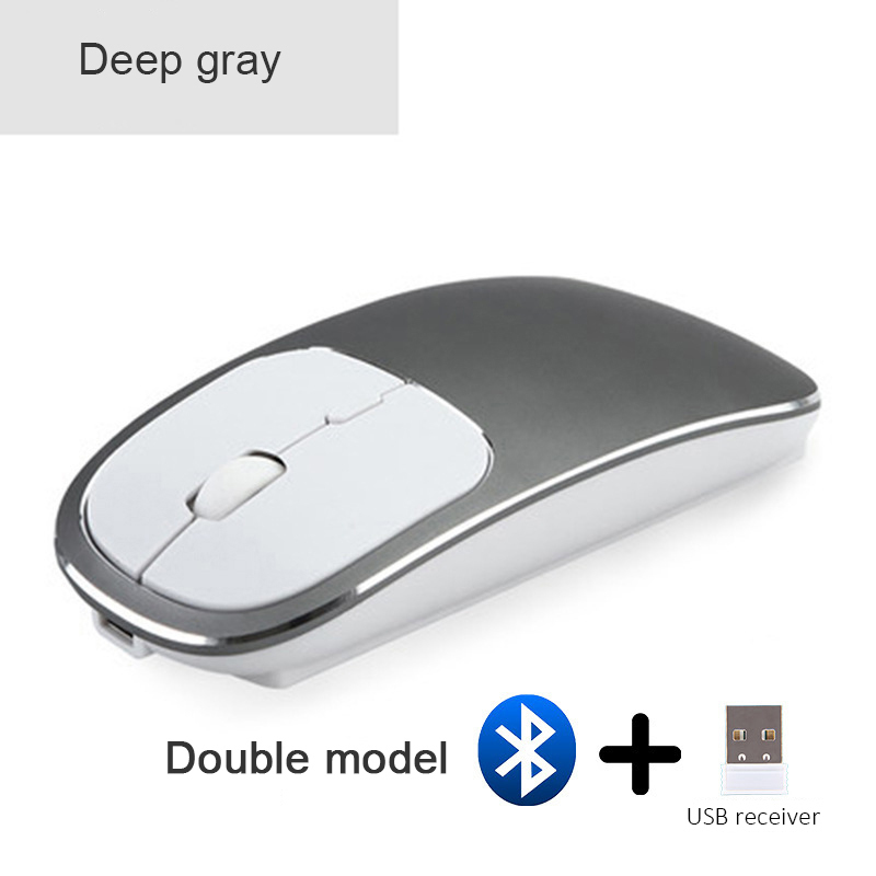 2X-Metall-Bluetooth-und-2-4-G-Wireless-Mouse-Alloy-Ultra-Thin-Recharge-Trag-S7K5 Indexbild 13