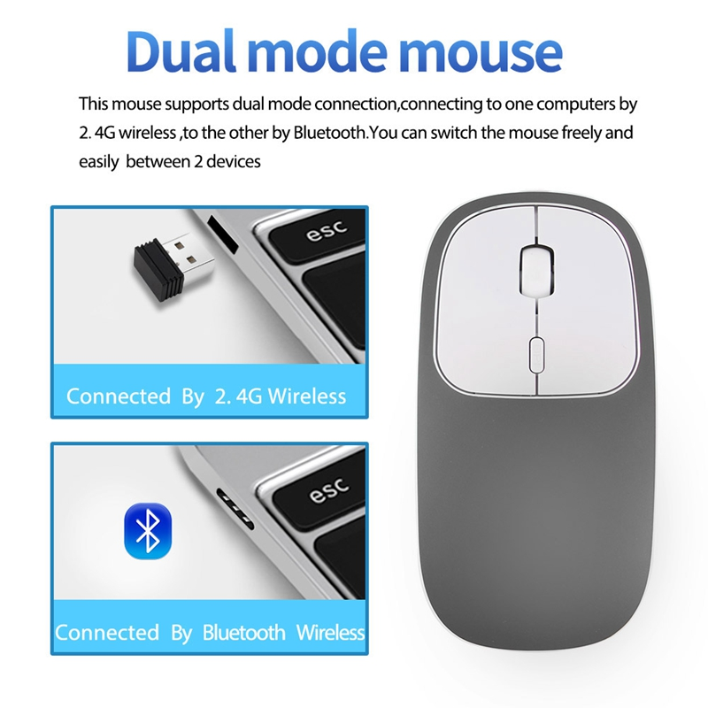 2X-Metall-Bluetooth-und-2-4-G-Wireless-Mouse-Alloy-Ultra-Thin-Recharge-Trag-S7K5 Indexbild 14