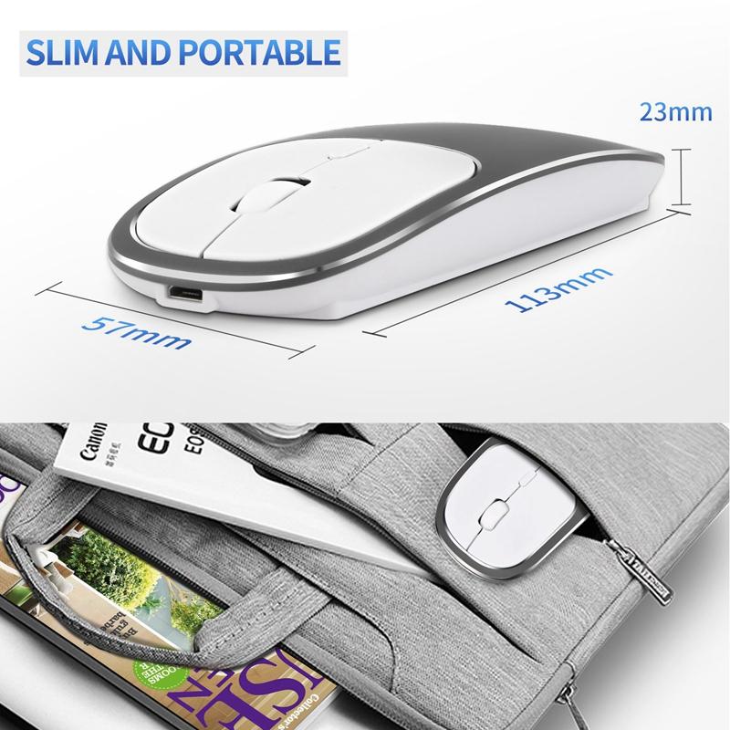 2X-Metall-Bluetooth-und-2-4-G-Wireless-Mouse-Alloy-Ultra-Thin-Recharge-Trag-S7K5 Indexbild 19