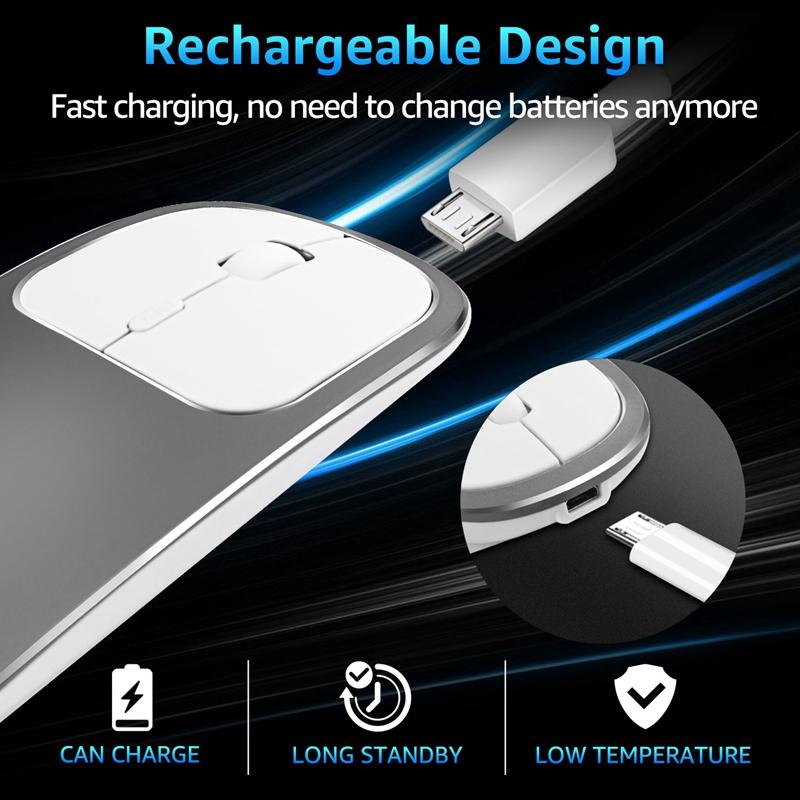 2X-Metall-Bluetooth-und-2-4-G-Wireless-Mouse-Alloy-Ultra-Thin-Recharge-Trag-S7K5 Indexbild 21