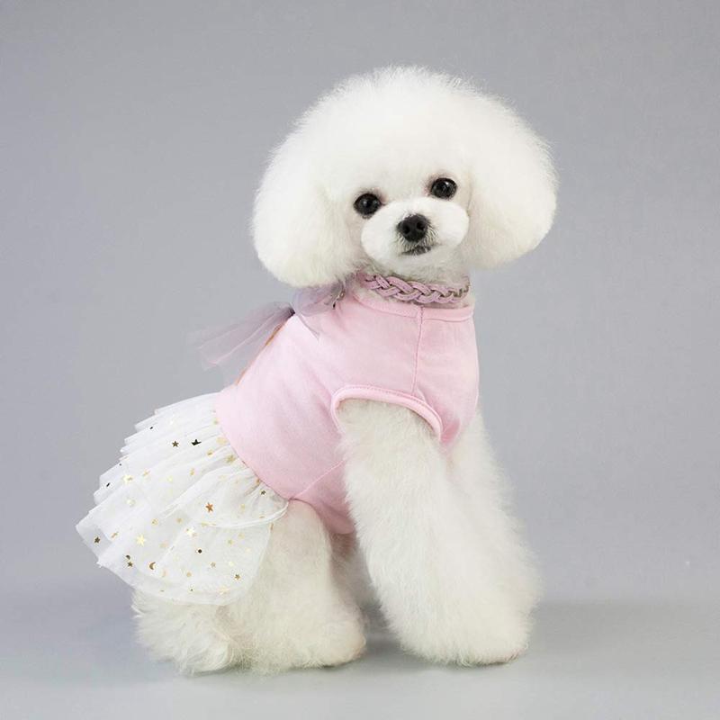 Animal-de-Compagnie-Robe-Lapin-Mignon-Decor-Chien-Tutu-Princesse-Robe-de-M-G7T1 miniature 3