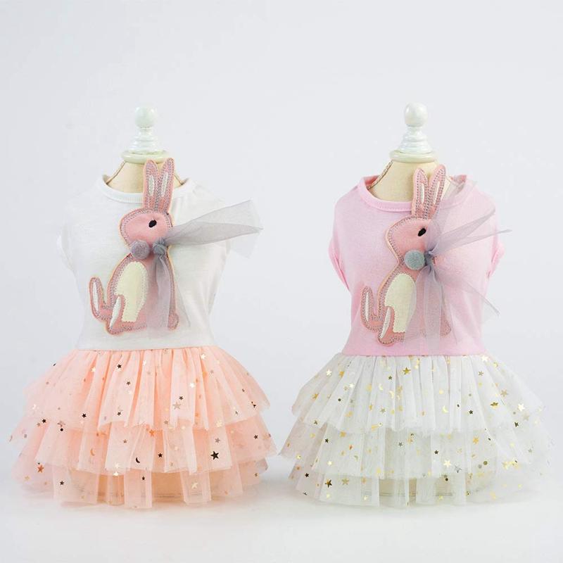 Animal-de-Compagnie-Robe-Lapin-Mignon-Decor-Chien-Tutu-Princesse-Robe-de-M-G7T1 miniature 6