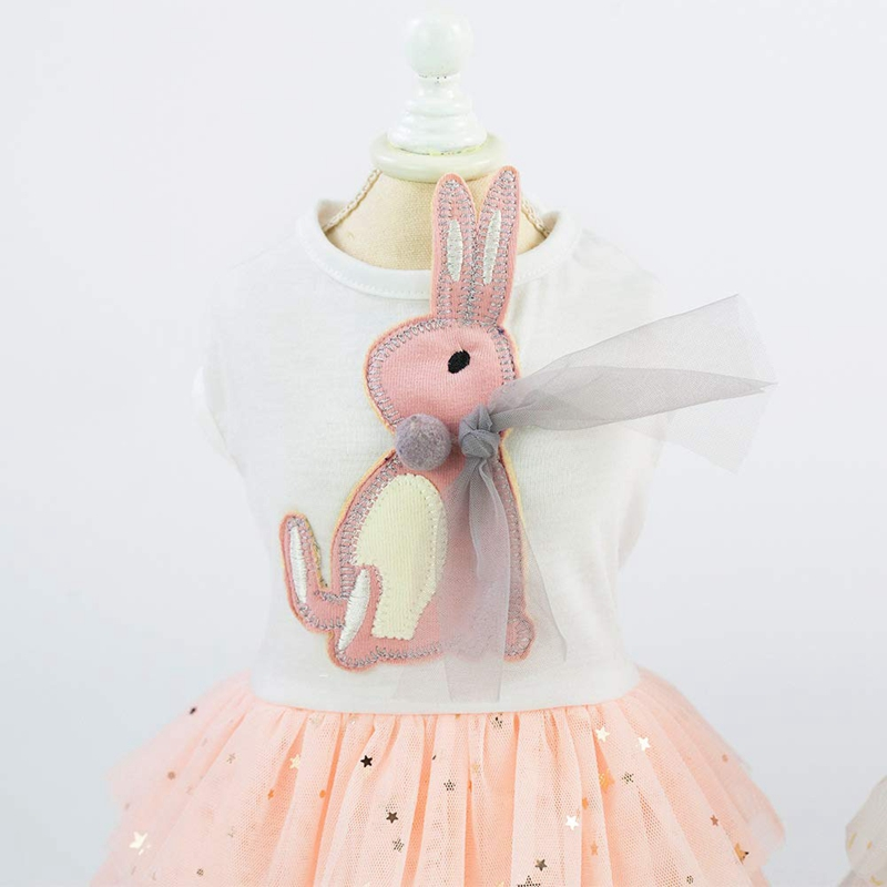 1X-Animal-de-Compagnie-Robe-Lapin-Mignon-Decor-Chien-Tutu-Princesse-Robe-d-A8A9 miniature 5