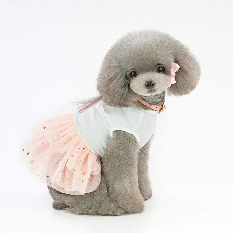 Animal-de-Compagnie-Robe-Lapin-Mignon-Decor-Chien-Tutu-Princesse-Robe-de-M-G7T1 miniature 11