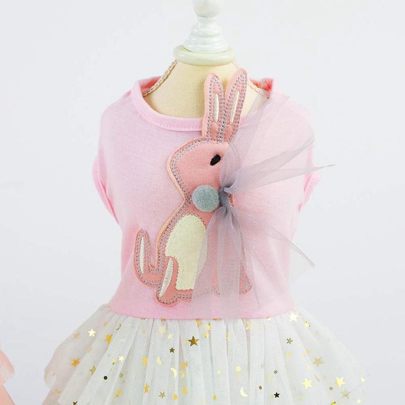 1X-Animal-de-Compagnie-Robe-Lapin-Mignon-Decor-Chien-Tutu-Princesse-Robe-d-A8A9 miniature 14
