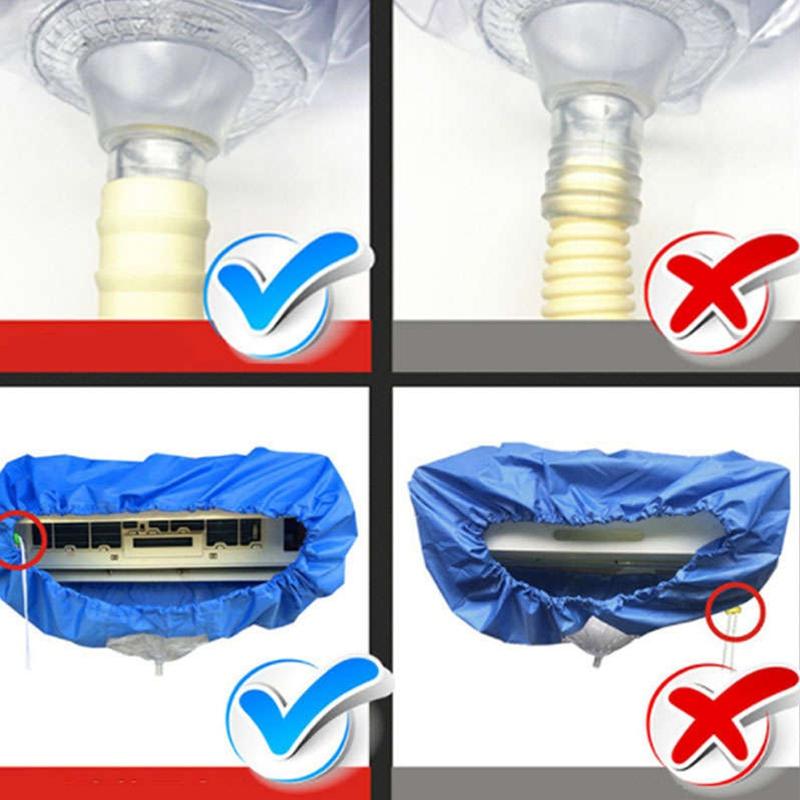 1X-Aire-Acondicionado-Tapa-Lavado-Acondicionador-de-Aire-Montado-en-la-Pare-J2I7 miniatura 6