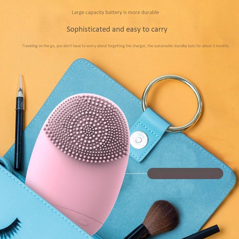 Electric-Facial-Cleansing-Brush-Lansing-Mini-2-Skin-No-Dead-Corner-Pore-Dir-F8P9 thumbnail 11