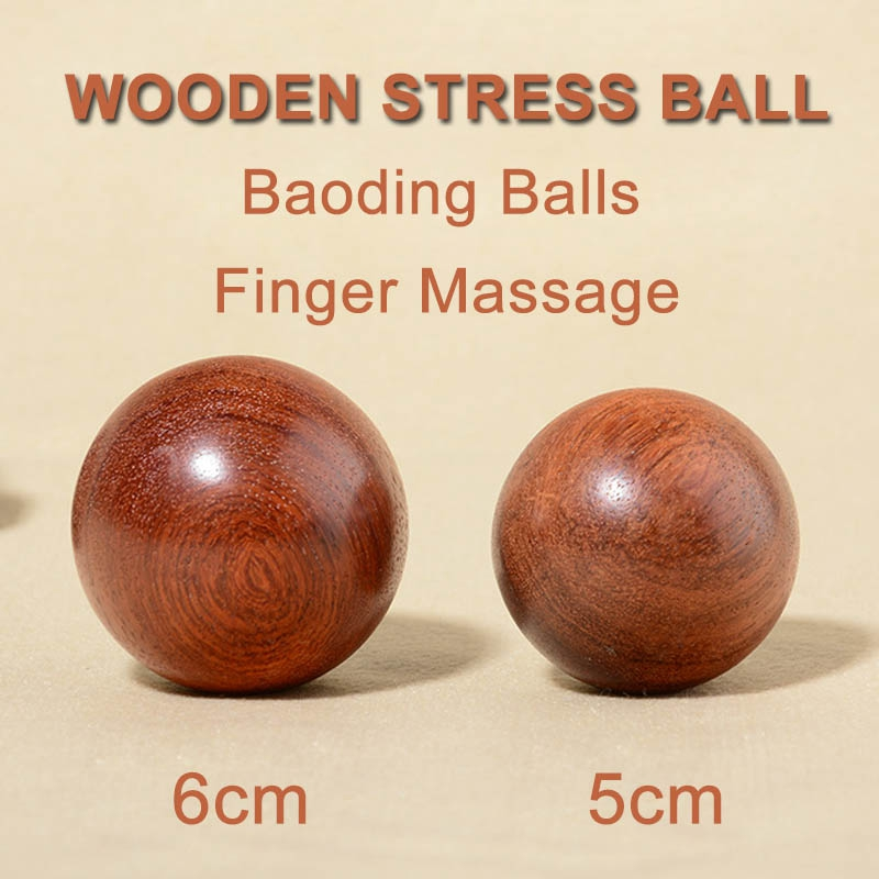 Wooden-Stress-Baoding-Ball-Health-Exercise-Handball-Finger-Massage-Chinese-L8F4 thumbnail 4