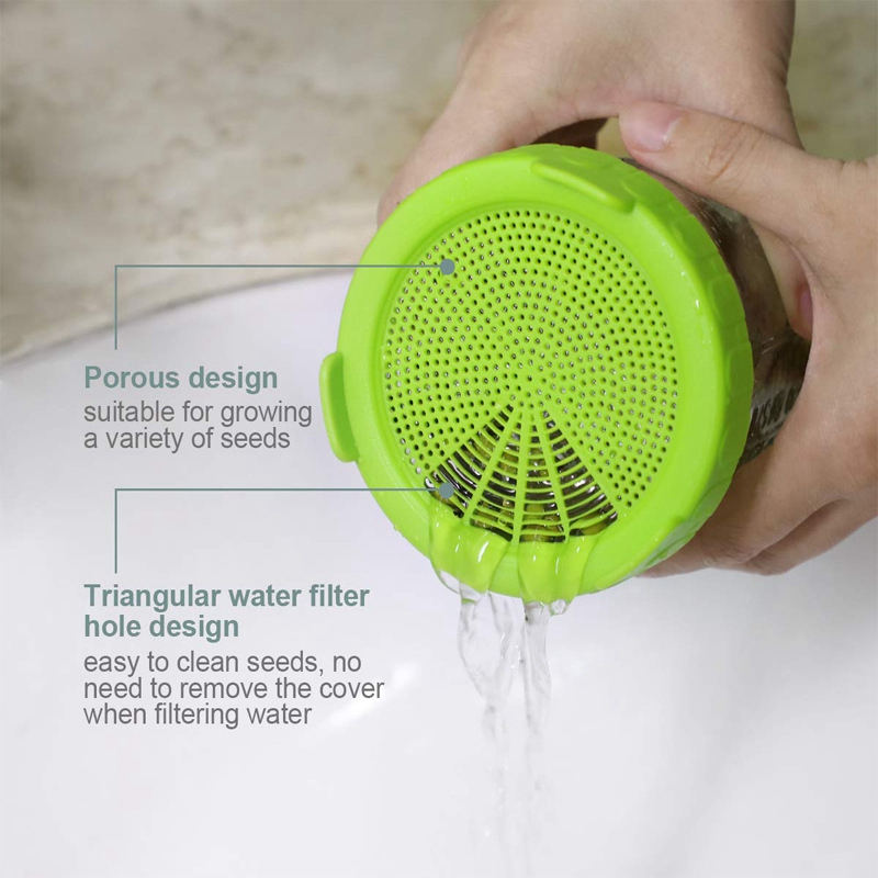 4Pcs-Sprouting-Lids-Food-Grade-Mesh-Sprout-Cover-Kit-Seed-Growing-Germinati-Z3W2 thumbnail 7