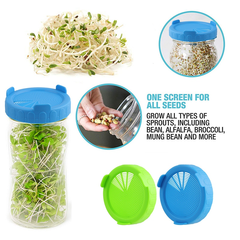 4Pcs-Sprouting-Lids-Food-Grade-Mesh-Sprout-Cover-Kit-Seed-Growing-Germinati-Z3W2 thumbnail 8