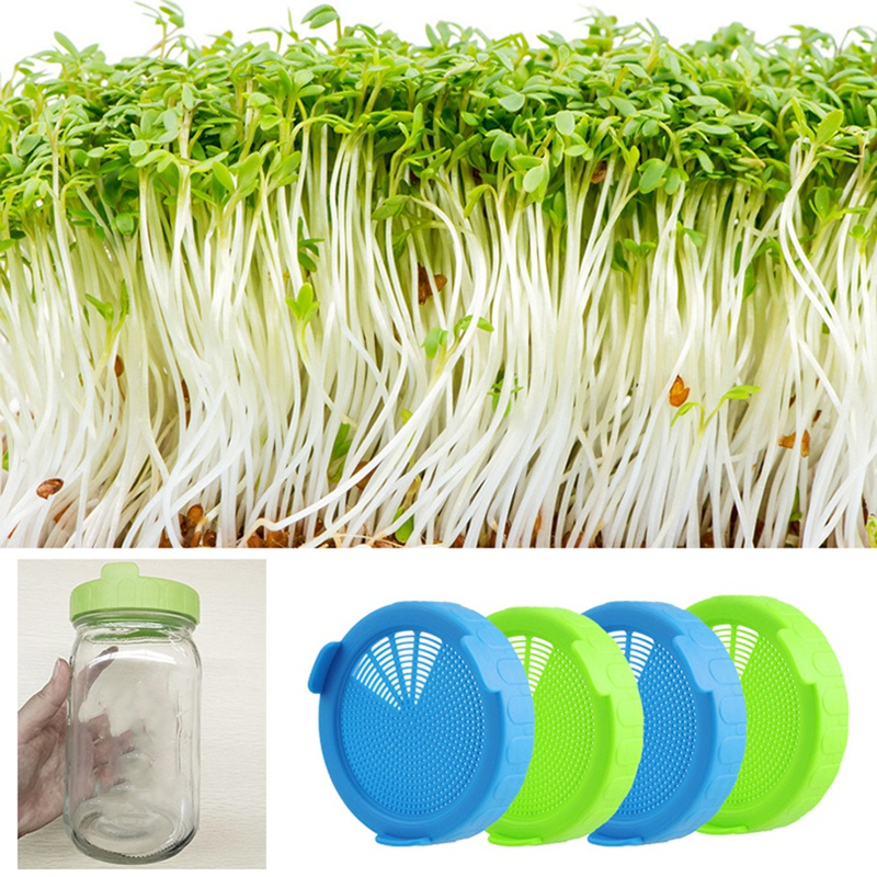 4Pcs-Sprouting-Lids-Food-Grade-Mesh-Sprout-Cover-Kit-Seed-Growing-Germinati-Z3W2 thumbnail 9