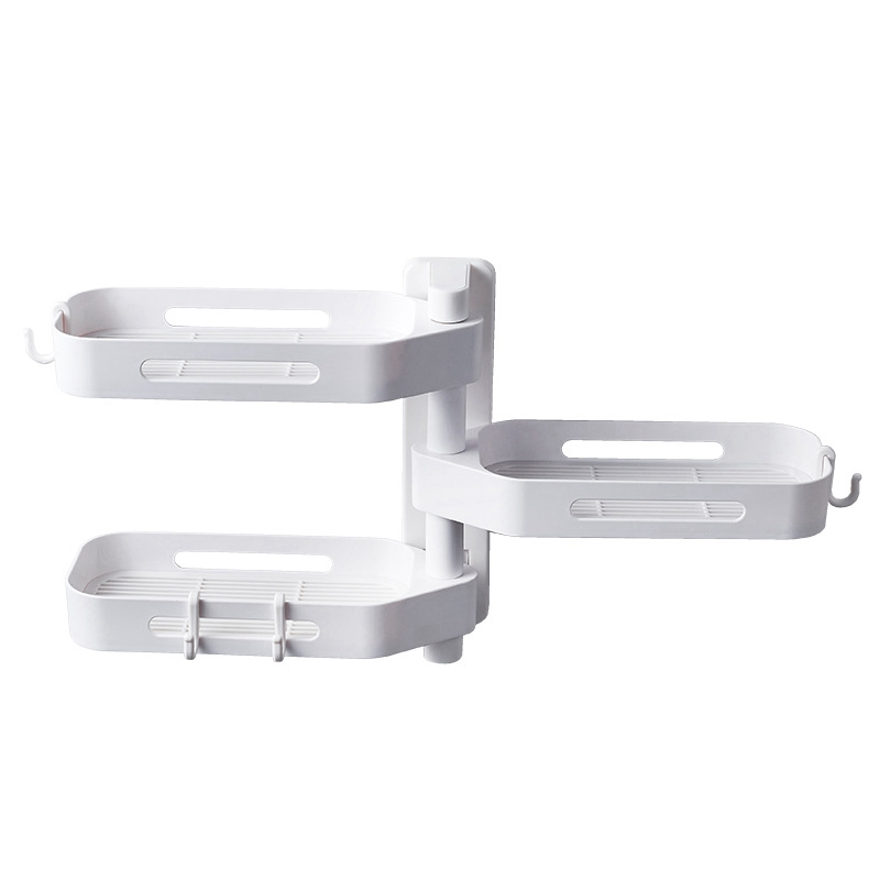 3-Tier-180-Degree-Free-Of-Punch-Rotating-Wall-Mount-Bathroom-Storage-Rack-S4Y5 thumbnail 14