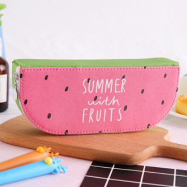 1X-Pu-Cuero-Fruta-Cajas-de-Lapices-Papeleria-Tienda-de-Gran-Tamano-Escuela-W5C4 miniatura 7