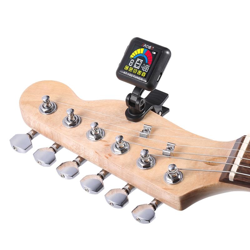 1X-Aroma-At-102-Wiederaufladbarer-Clip-On-Gitarren-Tuner-Farbbildschirm-mit-U1K9 Indexbild 13