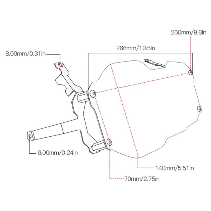 SODIAL para R1200Gs R 1200 GS LC Adventure 2013-2018 Protector de Faros Cubierta de Lente Protectora para Transparente//Accesorios de Malla