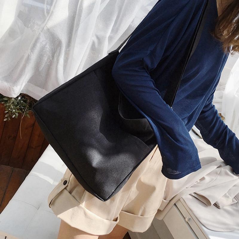 New-Female-Student-Fashion-Wild-Shoulder-Shopping-Bag-Large-Capacity-Canvas-I4B9 thumbnail 3