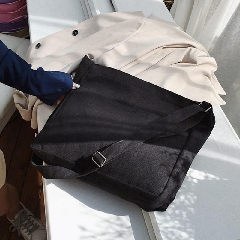 New-Female-Student-Fashion-Wild-Shoulder-Shopping-Bag-Large-Capacity-Canvas-I4B9 thumbnail 4