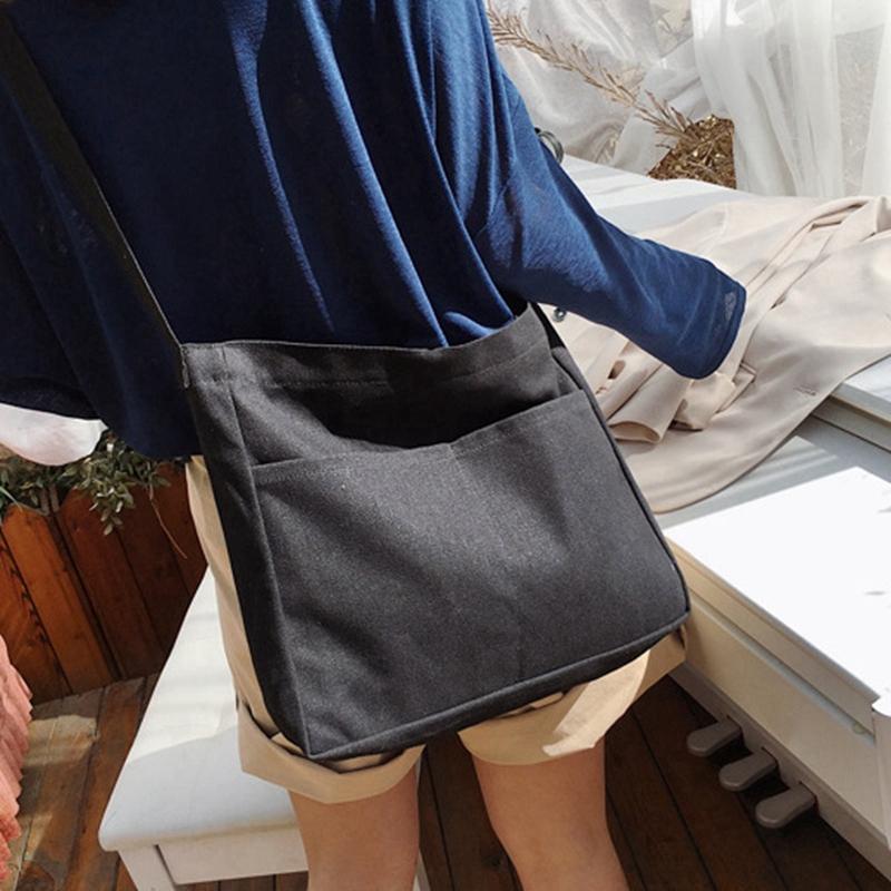New-Female-Student-Fashion-Wild-Shoulder-Shopping-Bag-Large-Capacity-Canvas-I4B9 thumbnail 6