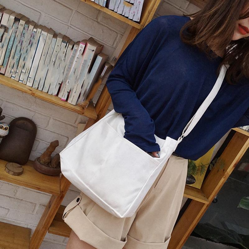 New-Female-Student-Fashion-Wild-Shoulder-Shopping-Bag-Large-Capacity-Canvas-I4B9 thumbnail 7
