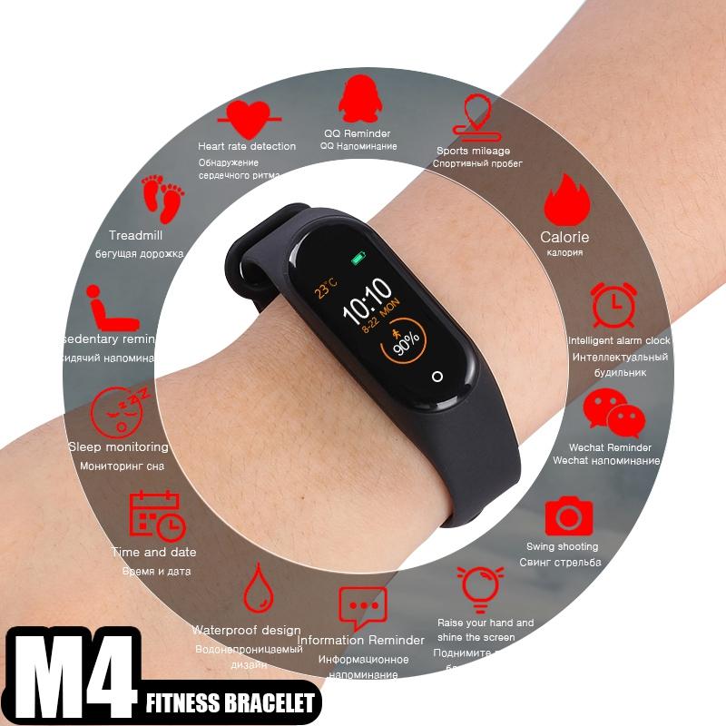 M4-Banda-Inteligente-Banda-de-la-Salud-Salud-Frecuencia-Cardiaca-Presion-Arteria miniatura 4