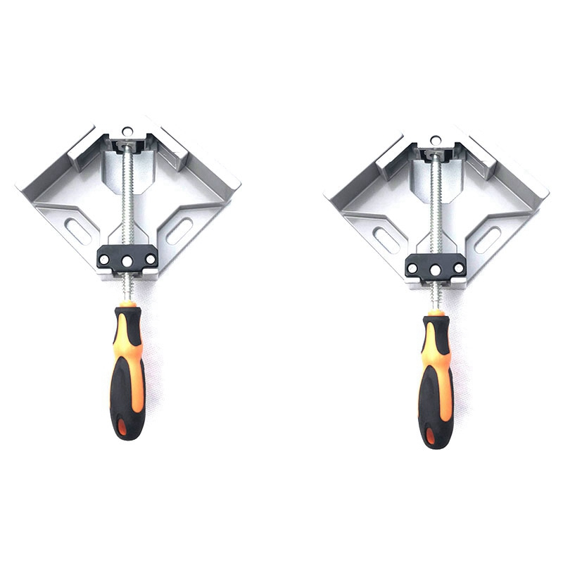 2X(2 Set Of 90 Degree Corner Clamp Right Angle Clamp Aluminum Alloy Made,AdU2S9)