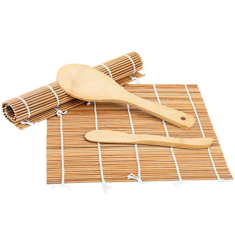Sushi Making Kit, Bamboo Sushi Mat, Including 2 Sushi ...