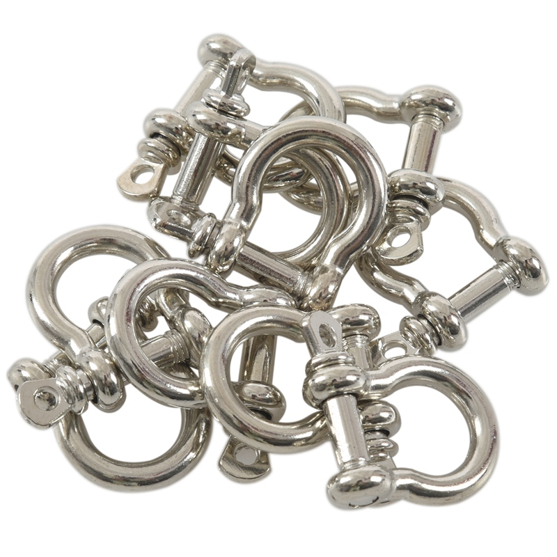10 PCS O Shape Stainless Steel Anchor Shackle Rope Paracord Bracelet Buckle PK