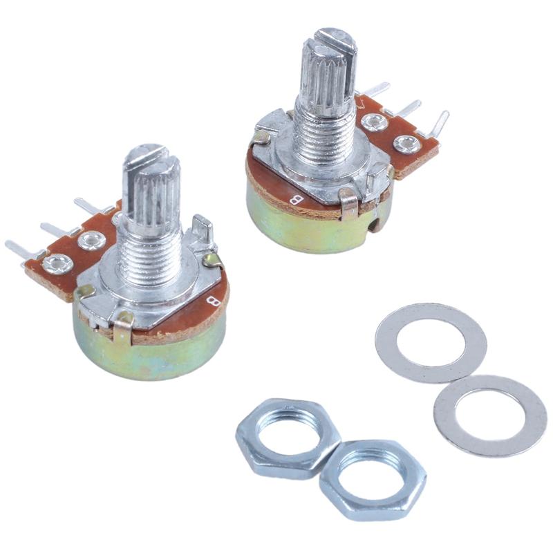 2-Pcs-Single-Linear-Knurled-Shaft-Volume-Rotary-Potentiometers-1K-Ohm-X4A2 thumbnail 3