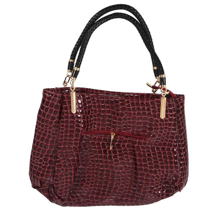 thumbnail 19 - Fashion-Women-Crocodile-Pattern-Leather-Shoulder-Bag-Female-Tote-Handbag-Y7J2