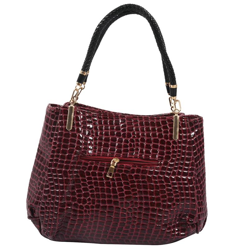 thumbnail 25 - Fashion-Women-Crocodile-Pattern-Leather-Shoulder-Bag-Female-Tote-Handbag-Y7J2