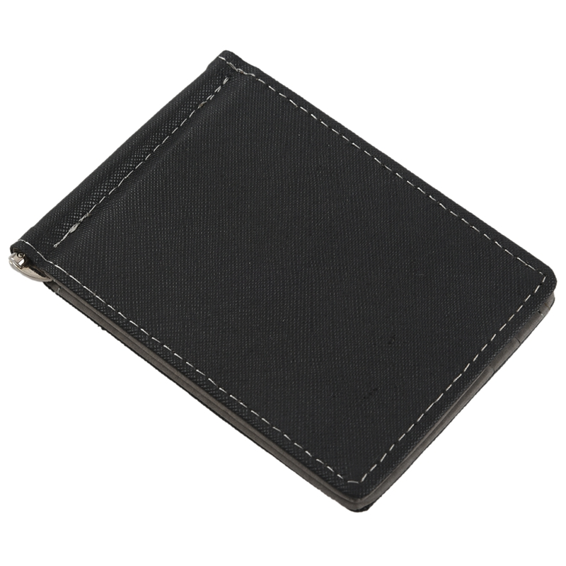 Faux-Leather-Slim-Mens-Credit-Card-Wallet-Money-Clip-Contract-Color-Simple-O8B8 thumbnail 3