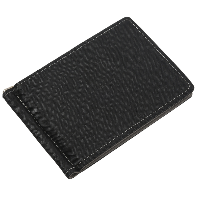 Faux-Leather-Slim-Mens-Credit-Card-Wallet-Money-Clip-Contract-Color-Simple-O8B8 thumbnail 4