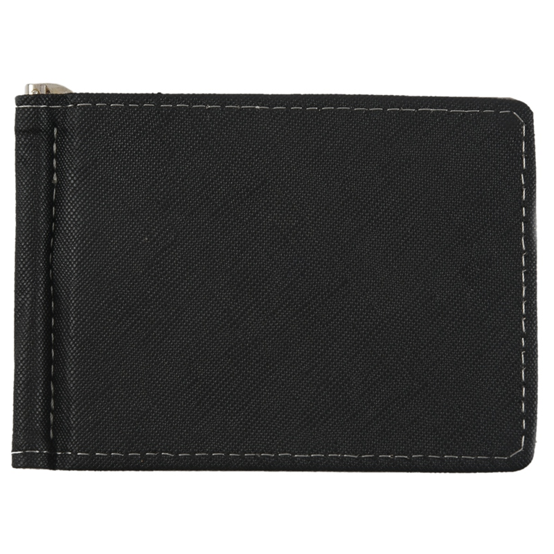 Faux-Leather-Slim-Mens-Credit-Card-Wallet-Money-Clip-Contract-Color-Simple-O8B8 thumbnail 5