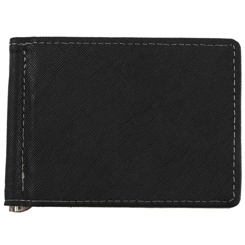 Faux-Leather-Slim-Mens-Credit-Card-Wallet-Money-Clip-Contract-Color-Simple-S2R7 thumbnail 2