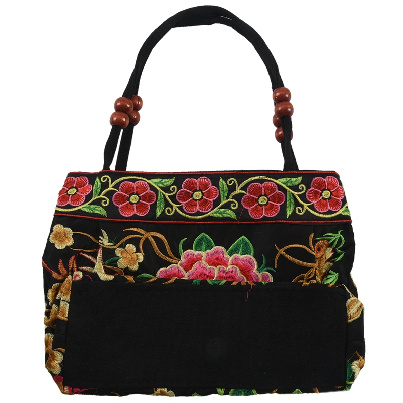 Chinese-Style-Women-Handbag-Embroidery-Ethnic-Summer-Fashion-Handmade-Flowers-TO thumbnail 3