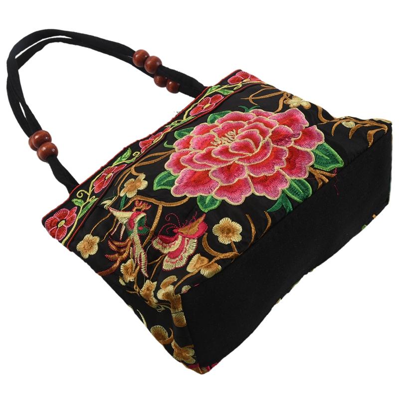 Chinese-Style-Women-Handbag-Embroidery-Ethnic-Summer-Fashion-Handmade-Flowers-TO thumbnail 6