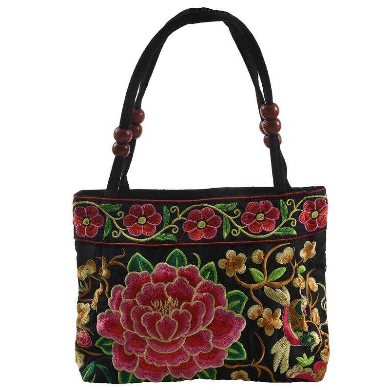 Chinese-Style-Women-Handbag-Embroidery-Ethnic-Summer-Fashion-Handmade-Flowers-TO thumbnail 8