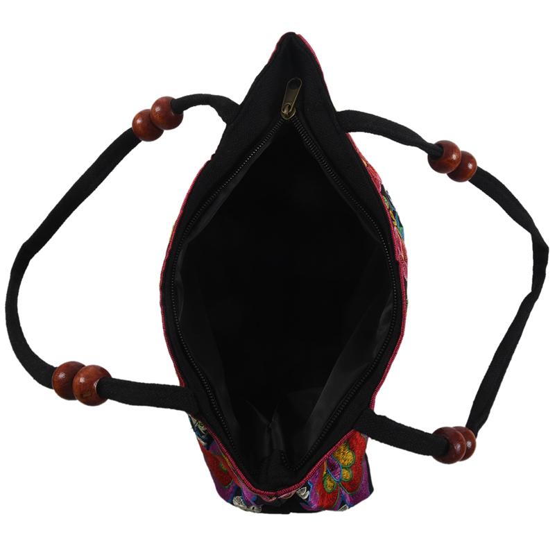 Chinese-Style-Women-Handbag-Embroidery-Ethnic-Summer-Fashion-Handmade-Flowers-TO thumbnail 12