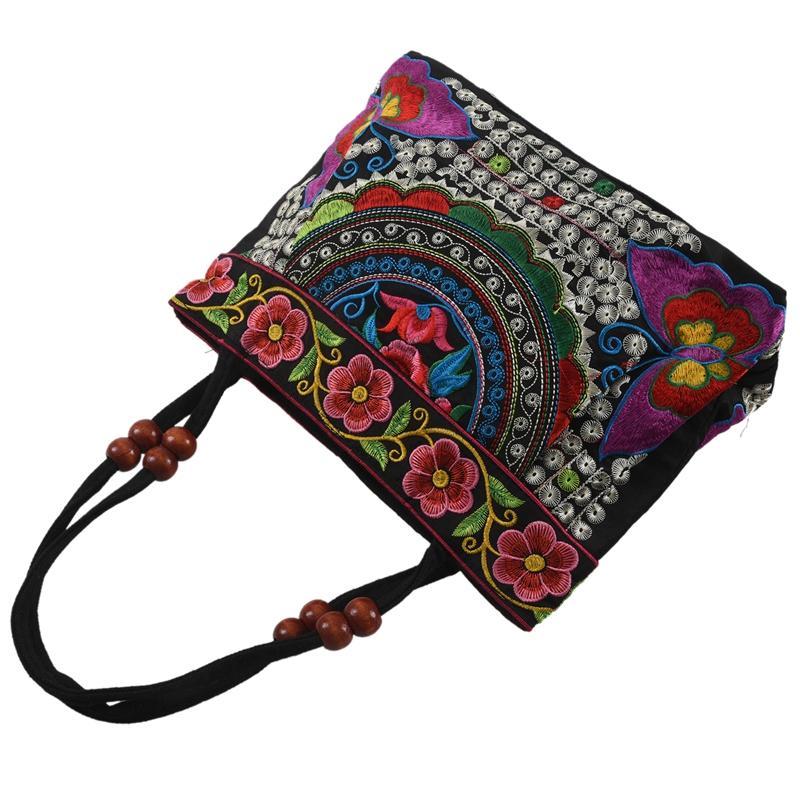 Chinese-Style-Women-Handbag-Embroidery-Ethnic-Summer-Fashion-Handmade-Flowers-TO thumbnail 13