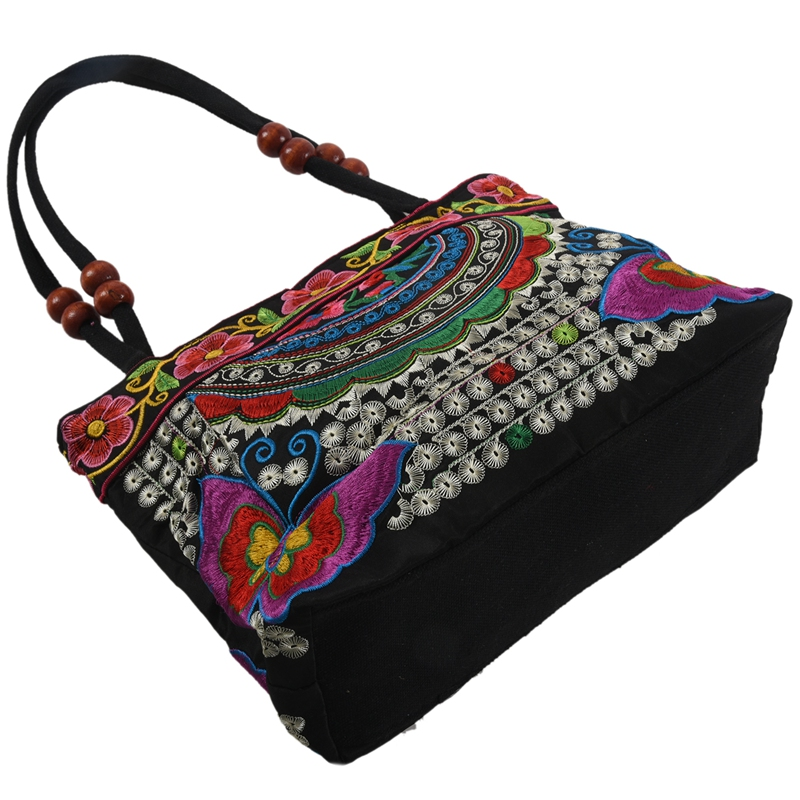 Chinese-Style-Women-Handbag-Embroidery-Ethnic-Summer-Fashion-Handmade-Flowers-TO thumbnail 14