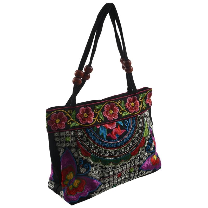Chinese-Style-Women-Handbag-Embroidery-Ethnic-Summer-Fashion-Handmade-Flowers-TO thumbnail 16