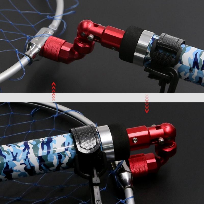 2X-Conector-de-Liberacion-Rapida-Pesca-Gruesa-Barbel-Carp-Landing-Net-Incli-N7J1 miniatura 24