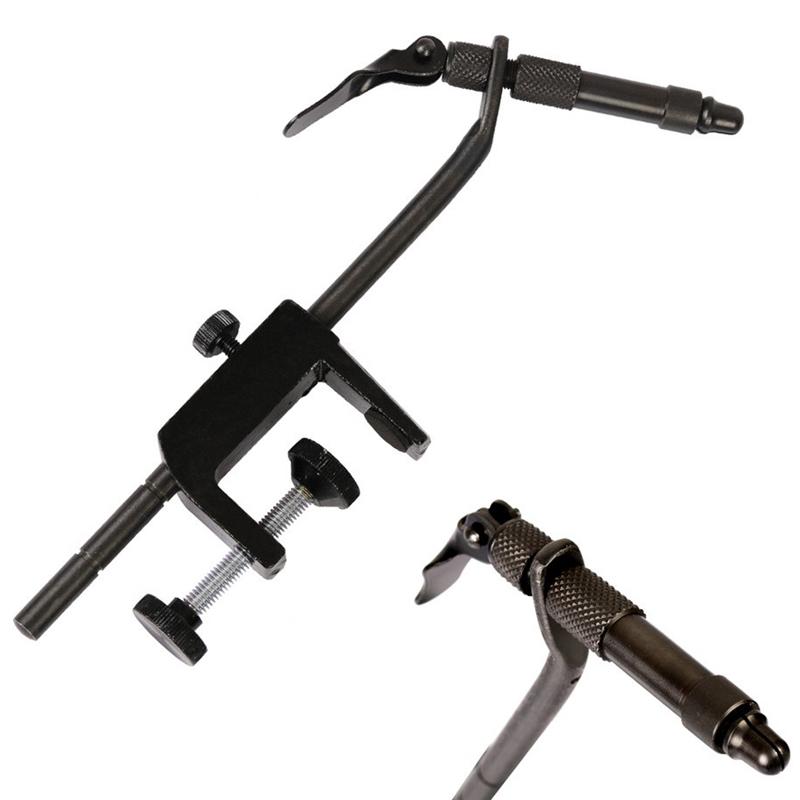 1X-1-Pcs-Fer-Noir-Mat-Rotatif-C-Pince-Mouche-Etau-Liant-Peche-Debutant-Voya-U7D2 miniature 2