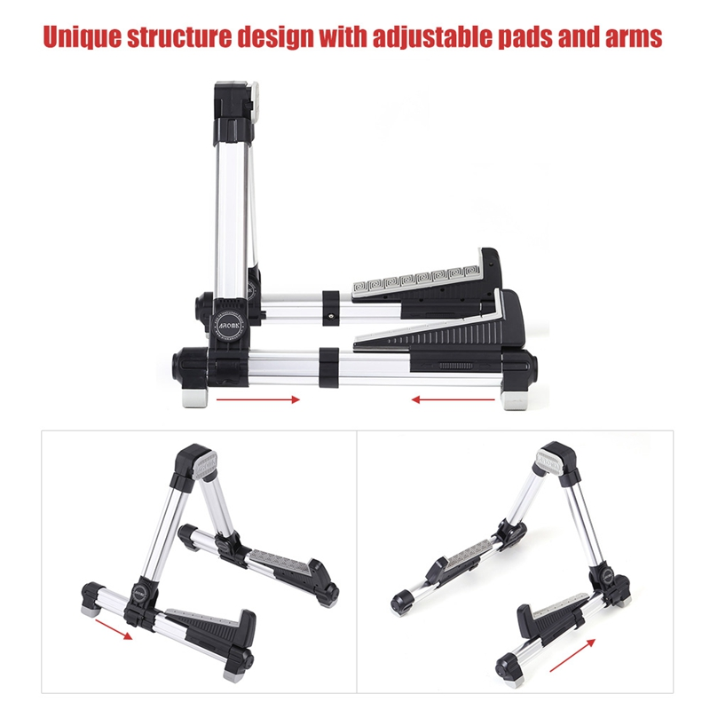 Aroma-Ags-08-Folding-Adjustable-Universal-Instrument-Stand-Use-T5W6 thumbnail 11