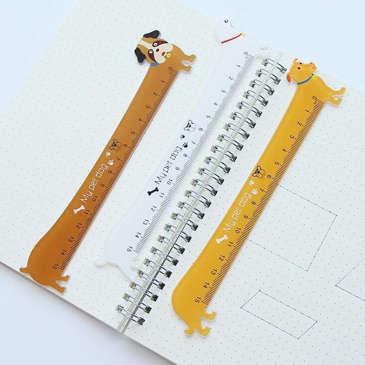 5X-3-Pieces-Kawaii-Cute-Lovely-Puppy-Dog-Plastic-Straight-Ruler-Study-Stud-F3V1 thumbnail 5