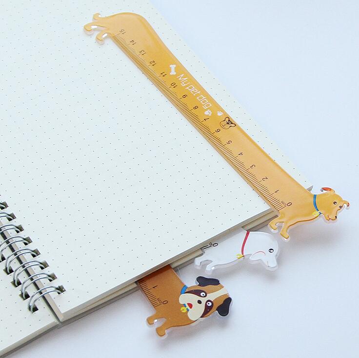 5X-3-Pieces-Kawaii-Cute-Lovely-Puppy-Dog-Plastic-Straight-Ruler-Study-Stud-F3V1 thumbnail 6