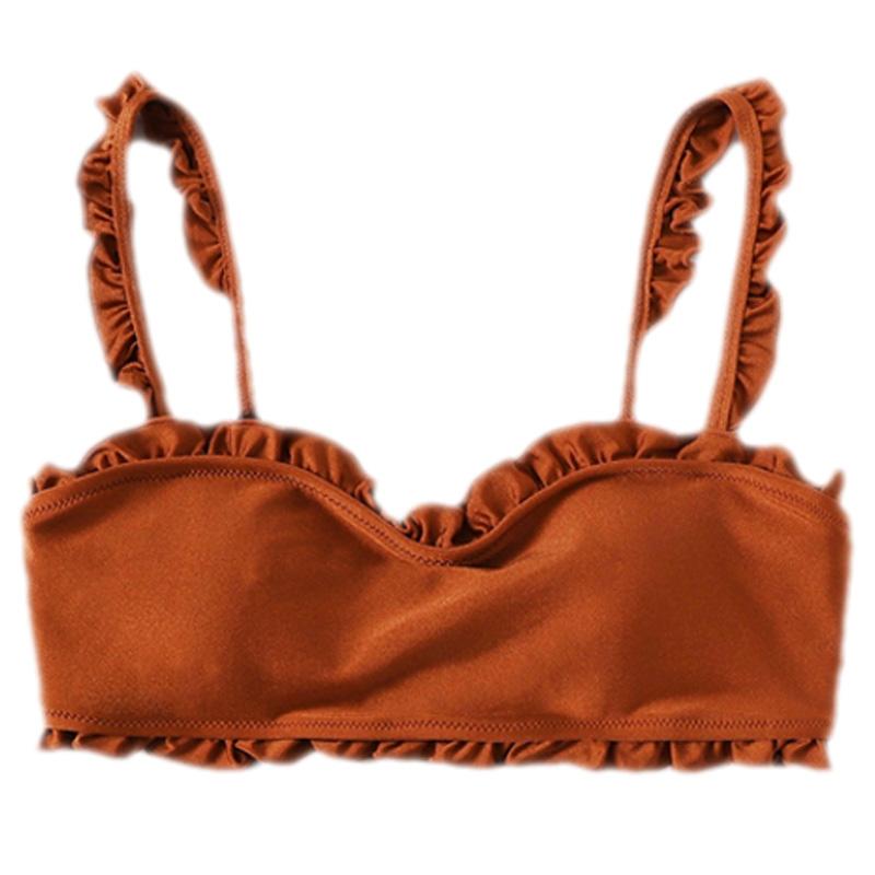 miniature 7 - Haut à Volants avec Bikini à Bretelles Réglables Maillot de Bain Femmes Été D8H7